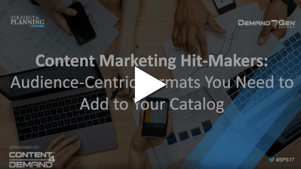 content marketing hit makers webinar screenshot