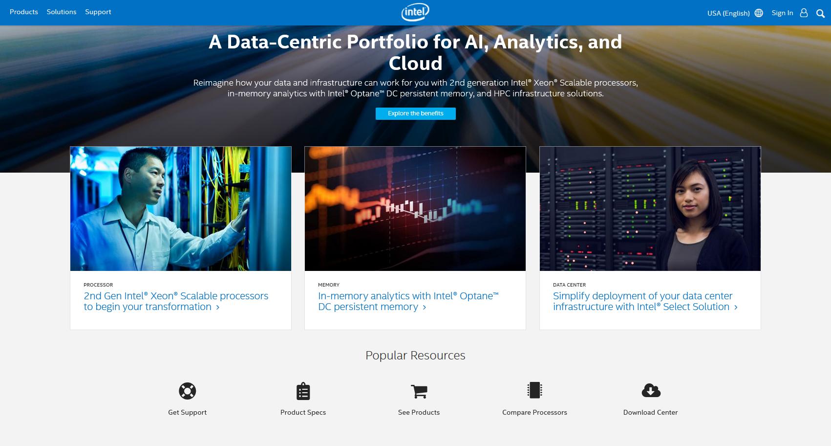 IQ by Intel content hub