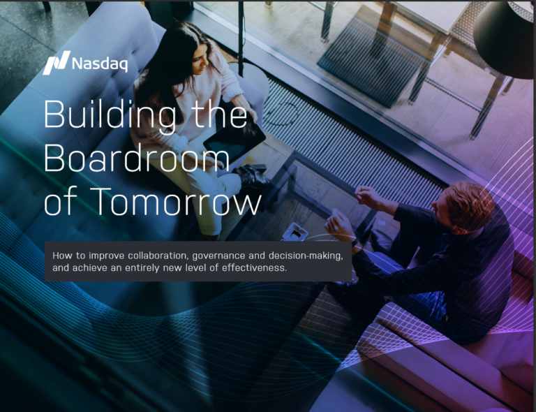 Nasdaq Building the Boardroom of Tomorrow