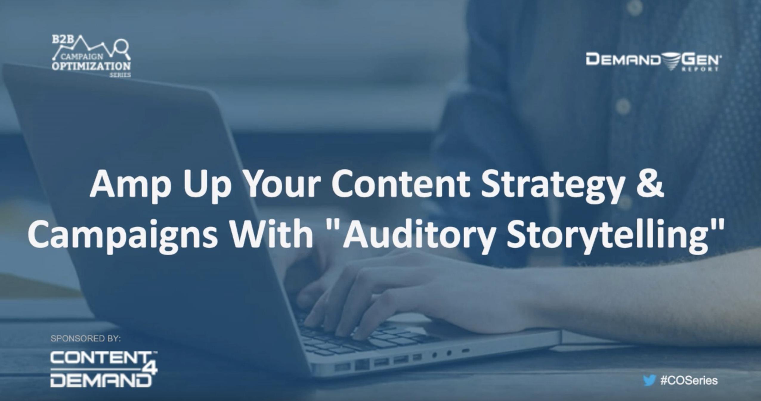 auditory storytelling webinar - resource
