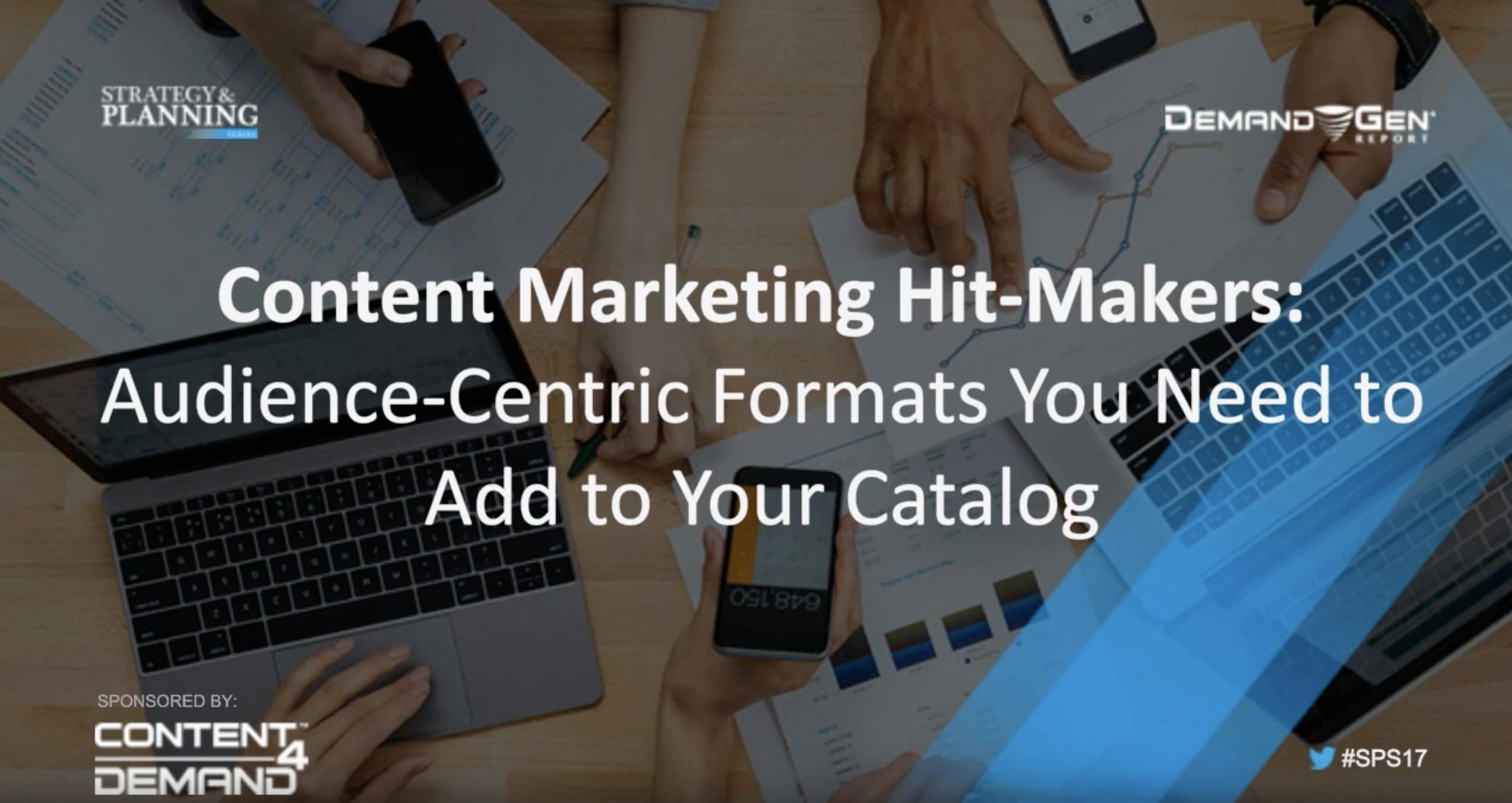 content marketing hit makers webinar - resource