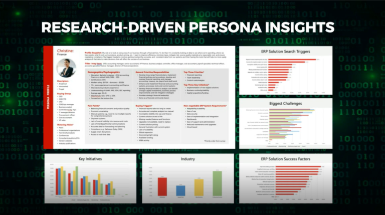 Research-driven persona insights