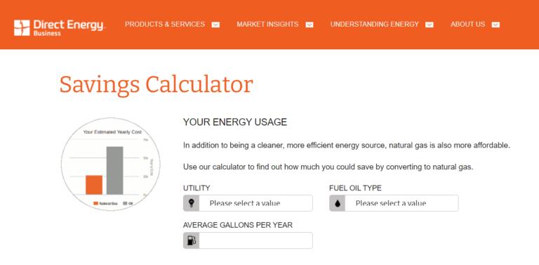 Direct Energy calculator