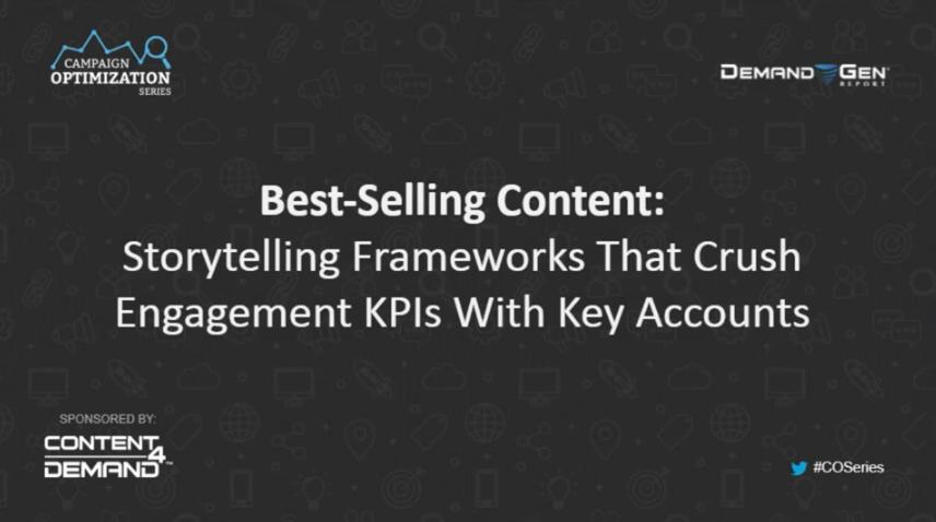 cos webinar series best-selling content & storytelling
