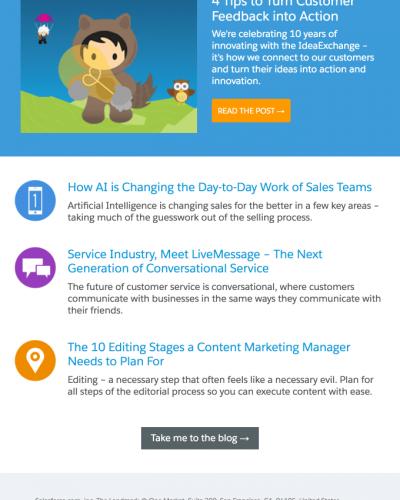 Salesforce newsletter